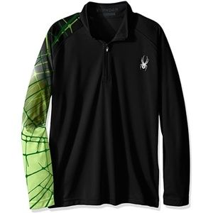 Spyder - 1/4 Zip Pullover with Web Sleeve + Gusset